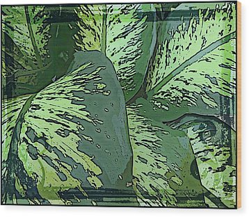 Tropical Green Wood Print by Mindy Newman