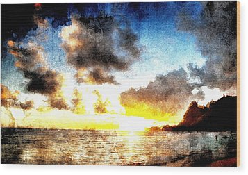 Wood Print featuring the digital art Tropical Heaven by Andrea Barbieri