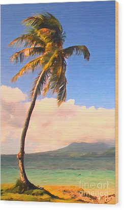 Tropical Island 2 - Painterly Wood Print by Wingsdomain Art and Photography