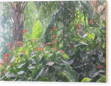 Wood Print featuring the photograph Tropical Paradise by Donna  Smith