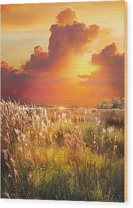 Tropical Savannah Wood Print by Francesa Miller