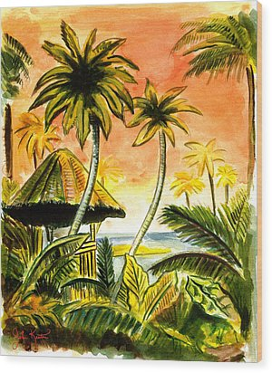 Tropical Skies Wood Print by John Keaton