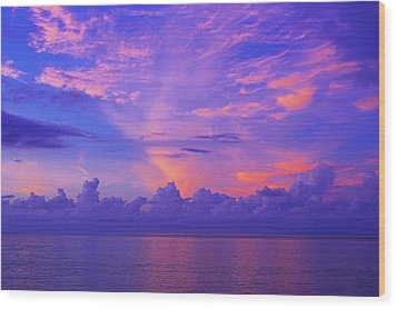 Wood Print featuring the photograph Tropical Sunset 3- St Lucia by Chester Williams