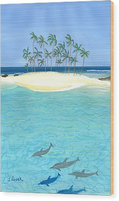 Tropical Tranquility  Wood Print by Jackie Novak