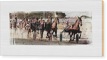 Wood Print featuring the photograph Trotting 3 by Pedro Cardona
