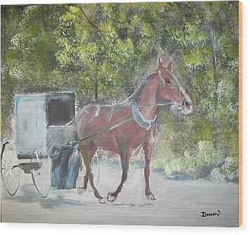 Trotting Along Wood Print