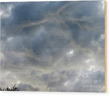 Troubled Sky Wood Print by Greg Geraci