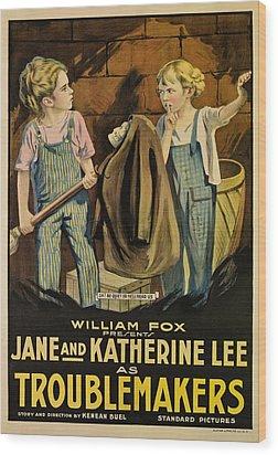 Troublemakers, Jane Lee, Katherine Lee Wood Print by Everett
