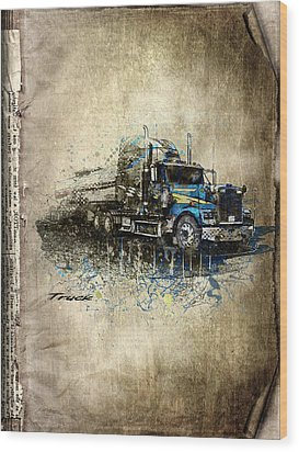 Truck Wood Print by Svetlana Sewell