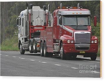 Truck Tow Wood Print by Joanne Kocwin