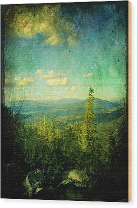 Truckee Trails Wood Print