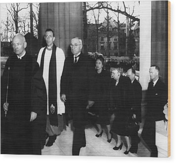 Truman Presidency. From Left Cathedral Wood Print by Everett
