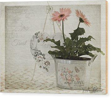 Trust  Wood Print by Sandra Rossouw