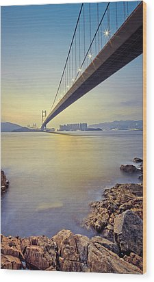 Tsing Ma Bridge Wood Print by Andi Andreas
