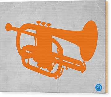 Tuba  Wood Print by Naxart Studio