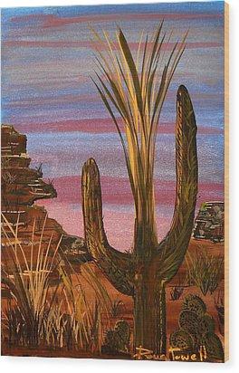 Tucson Desert Wood Print