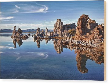 Tufas At Mono Lake Wood Print by Mimi Ditchie Photography