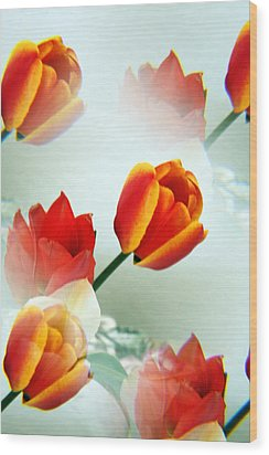 Tulip Abstract Wood Print by Marilyn Hunt