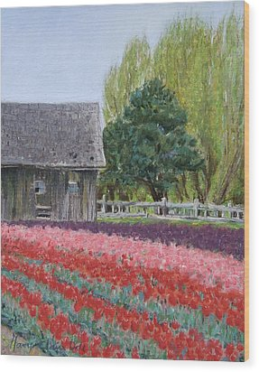Tulip Season Wood Print by Marie-Claire Dole