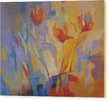 Tulip Song Wood Print by Marty Husted