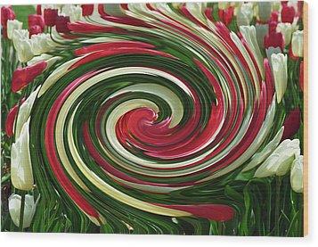 Tulip Tornado Wood Print by Rick Rauzi