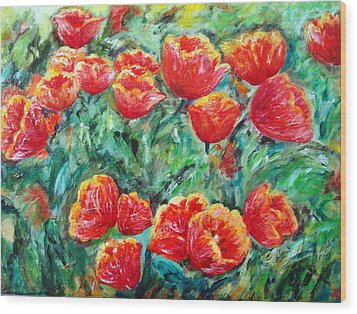 Tulips Expression Wood Print