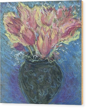 Tulips Wood Print by Hillary McAllister