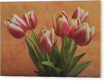 Wood Print featuring the photograph Tulips by James Bethanis