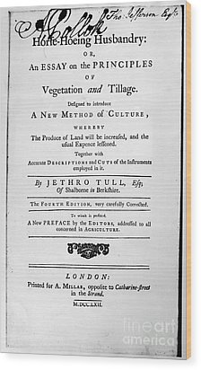 Tull: Title Page, 1762 Wood Print by Granger