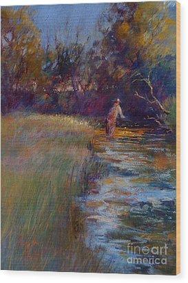Tumbling Waters Wood Print by Pamela Pretty