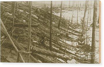 Tunguska Event, 1908 Wood Print by Science Source