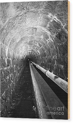 Tunnel Wood Print by Gaspar Avila
