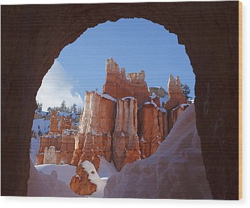 Wood Print featuring the photograph Tunnel In The Rock by Susan Rovira