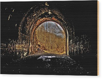 Tunnel Of Gold Wood Print by Shirley Tinkham