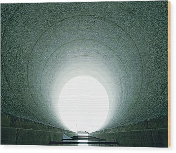 Tunnel Vision Wood Print by Jan W Faul