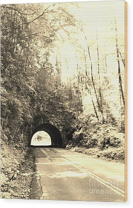 Tunnel Vision Wood Print by Janice Spivey