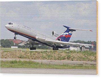 Tupolev 154 Aircraft, Russia Wood Print by Ria Novosti