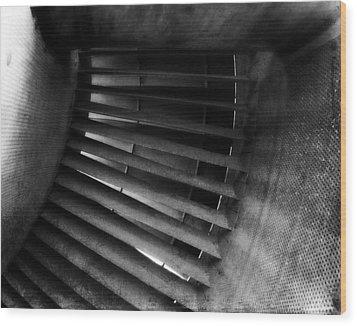 Turbine View Wood Print