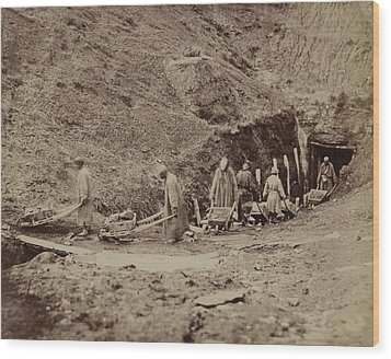 Turkestani Workers Hauling Coal From An Wood Print by Everett