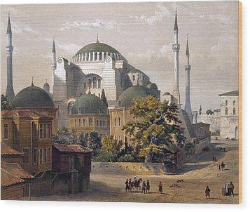 Turkey: Hagia Sophia, 1852 Wood Print by Granger
