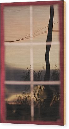 Turn Left At Dawn Wood Print by Susan Capuano