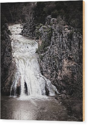 Turner Falls Roar Wood Print by Tamyra Ayles