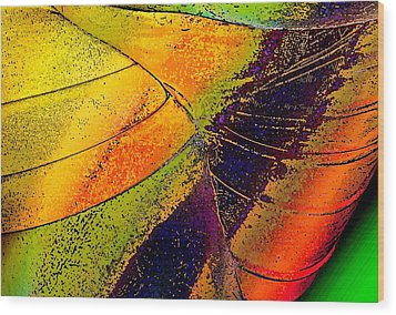 Wood Print featuring the photograph Turning Purple  by David Pantuso