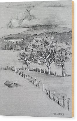 Turpentine Trees And The Big Island Wood Print by Barbara Richert