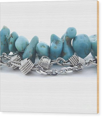 Turquoise Wood Print by Blink Images