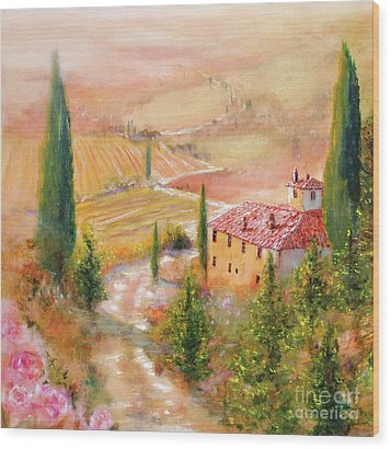 Wood Print featuring the painting Tuscan Dream by Michael Rock