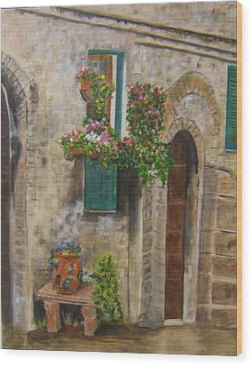 Tuscan Window Wood Print
