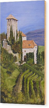 Tuscany 1 Wood Print by Maureen Pisano