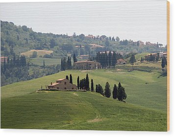 Wood Print featuring the photograph Tuscany by Carla Parris