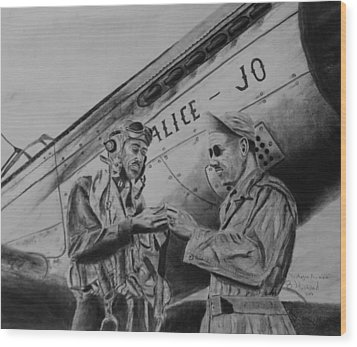 Tuskegee Airmen Wood Print by Brian Hustead
